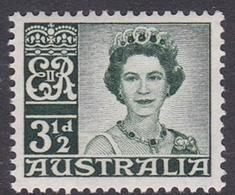 Australia ASC 344 1959 Queen Elizabeth II Definitives 3.5 Green, Mint Never Hinged - Mint Stamps