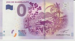 Billet Touristique 0 Euro Souvenir Zoo De Guadeloupe 2017-1 N°UEMU001764 - Privéproeven
