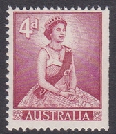 Australia ASC 345b 1959 Queen Elizabeth II Definitives 4d Red From Booklet, Mint Never Hinged - 1952-65 Elizabeth II : Ed. Pré-décimales