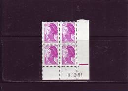 N° 2184 -  0,50F LIBERTE - 1° Tirage Du 26.11 Au 9.12. - 9.12.1981 - (RE) - 1980-1989