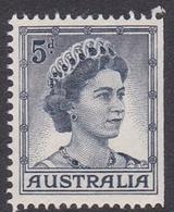 Australia ASC 346b 1959 Queen Elizabeth II Definitives 5d Blue, From Booklet, Mint Never Hinged - 1952-65 Elizabeth II : Ed. Pré-décimales