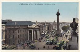 O'CONNELL STREET & NELSON PILLAR, DUBLIN. CIRCA 1930's- BLEUP - Ierland