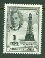 British Virgin Is: 1952   KGVI   SG136   1c   MH - British Virgin Islands