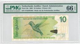 Netherlands Antilles, 10 Gulden, 2003, PMG 66. - Antilles Néerlandaises (...-1986)