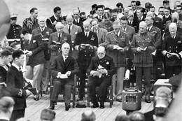 """WW2 -  Roosevelt Et Churchill Sur Le """"Prince Of Walles"""" Le 10/08/1941 - 1939-45"""