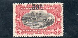 CONGO BELGE 1923 * - 1894-1923 Mols: Neufs