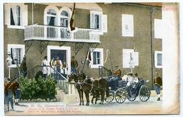 MONTENEGRO : CETINJE - PALAIS DE S. ALTESSE ROYALE LE PRINCE / STAMP OVERPRINT : CONSTITUTION 1905 - Montenegro