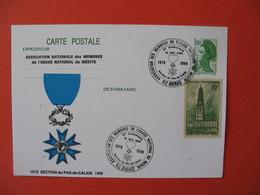 Carte Association Nationale Des Membres De L'ordre National Du Mérite D'Arras Avec Affranchissement  Beffroi D'Arras - France