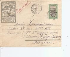 Madagascar ( EP Illustré De 1929 De De Antalaha Vers Diégo-Suarez à Voir) - Covers & Documents