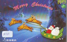 Télécarte Japon NOËL (2111) MERRY CHRISTMAS * Phonecard * Telefonkarte WEIHNACHTEN JAPAN * KERST NAVIDAD * NATALE - Weihnachten