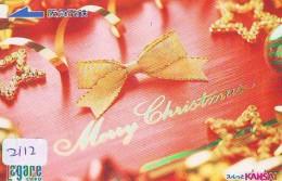 Télécarte Japon NOËL (2112) MERRY CHRISTMAS * Phonecard * Telefonkarte WEIHNACHTEN JAPAN * KERST NAVIDAD * NATALE - Weihnachten