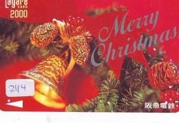 Télécarte Japon NOËL (2114) MERRY CHRISTMAS * Phonecard * Telefonkarte WEIHNACHTEN JAPAN * KERST NAVIDAD * NATALE - Weihnachten