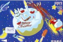 Télécarte Japon NOËL (2115) MERRY CHRISTMAS * Phonecard * Telefonkarte WEIHNACHTEN JAPAN * KERST NAVIDAD * NATALE - Weihnachten