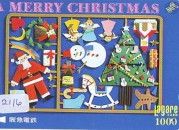 Télécarte Japon NOËL (2116) MERRY CHRISTMAS * Phonecard * Telefonkarte WEIHNACHTEN JAPAN * KERST NAVIDAD * NATALE - Noel