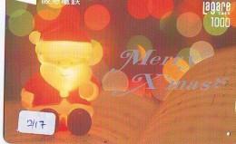 Télécarte Japon NOËL (2117) MERRY CHRISTMAS * Phonecard * Telefonkarte WEIHNACHTEN JAPAN * KERST NAVIDAD * NATALE - Noel