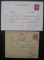 Corse Pétain, Lot D'une Lettre Et D'un Entier Postal Oblitérés En Corse: Figari Et Ochiatana - 1921-1960: Période Moderne