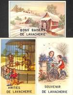 Lavacherie - Lot 3 Cartes (amitiés, Souvenir.. Animée, Enfants, Moulin) - Sainte-Ode