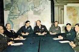 WW2 - SHAEF - Bradley, Ramsey, Tedder, Eisenhower, Montgomery, Leigh-Mallory Et Bedell-Smith - 1939-45