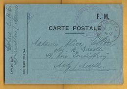 Carte Postale F.M. 8/02/40 Sur Metz Avec Cachet Militaire - Cartes De Franchise Militaire