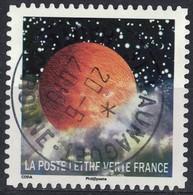 France 2016 Oblitéré Rond Daté Used Correspondances Planétaires Septième Timbre Y&T 1332 SU - Frankreich