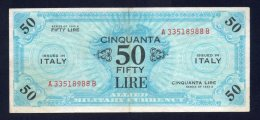 Banconota 50 Lire - Allied Military Currency 1943 (Bilingue) - [ 3] Military Issues