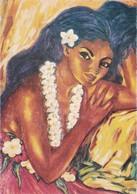 TABLEAU DE M G BOVY. ATISTE PEINTRE VIVANT EN POLYNESIE FRANÇAISE. ENTIER ENTERO STATIONERY POSTAL.- BLEUP - Frans-Polynesië