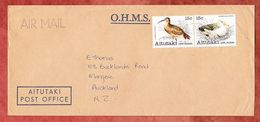 Luftpost, MiF Zusammendruck Voegel, Aitutaki Nach Auckland 1982 (53784) - Aitutaki