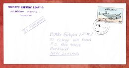 Luftpost, EF Kampfbomber, Port Vila Nach Auckland 1997 (53789) - Vanuatu (1980-...)
