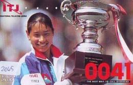 Télécarte Japon * Sport * TENNIS * (2065) KIMIKO DATE * PHONECARD JAPAN * TELEFONKARTE - Sport