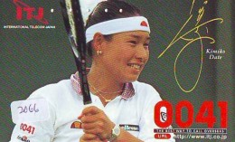 Télécarte Japon * Sport * TENNIS * (2066) KIMIKO DATE * PHONECARD JAPAN * TELEFONKARTE - Sport