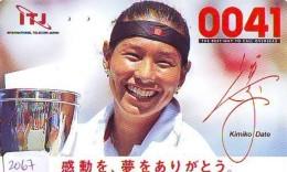 Télécarte Japon * Sport * TENNIS * (2067) KIMIKO DATE * PHONECARD JAPAN * TELEFONKARTE - Sport