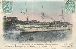 """13 MARSEILLE Paquebot """" L'iraouaddy"""" De La C.M.M.   2scans - Marseilles"""