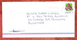Luftpost, EF Meerschnecke, Port Vila Nach Auckland 1993 (53794) - Vanuatu (1980-...)