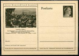 """German Empires 1941 Kopfbild A.Hitler GS Mi.Nr.P305/42-12-1-B4 """"Lernt Deutschland Kennen! Landeshut,Schlesien""""1 GS - Allemagne"""