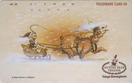 Télécarte Japon / 110-149214 - DISNEY - DISNEYLAND - Série COUNTRY BEAR THEATER - NOEL CHRISTMAS - Japan Phonecard - Disney
