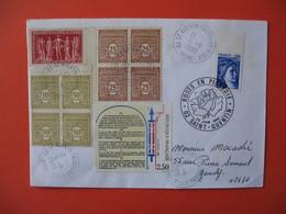 Enveloppe 1989 Timbrée Sur Le Thème De La Liberté De L'Egalité Et De La Fraternité - Autres