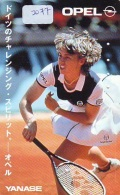 Télécarte Japon * Sport * TENNIS * (2077)   MARTINA HINGIS  * OPEL * PHONECARD JAPAN * TELEFONKARTE - Sport