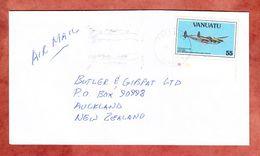 Luftpost, EF Jagdflugzeug, Port Vila Nach Auckland 1994 (53799) - Vanuatu (1980-...)
