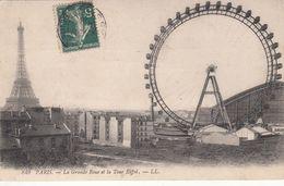 Cp , 75 , PARIS , La Grande Roue Et La Tour Eiffel - Other Monuments