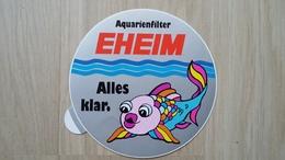 Aufkleber Mit Darstellung Eines Zierfisches (Aquaristik-Werbung) - Stickers