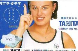 Télécarte Japon * Sport * TENNIS * (2082)   TANITA * PHONECARD JAPAN * TELEFONKARTE - Sport