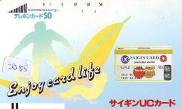 Télécarte Ancienne Japon / 110-7027 - Sport - SURF (2085)  UC Master Card - Banque Bank Japan Front Bar Phonecard - Sport