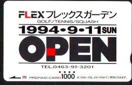 Carte Prépayée Japon (2092)  TENNIS  * GOLF * SQUASH   * PREPAID CARD JAPAN * KARTE - Sport