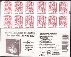 """CARNET Marianne De Ciappa-Kawena """"REVIVEZ UNE ANNEE DE PHILATELIE"""" Avec Carré Noir. A Saisir, RARE - Definitives"""