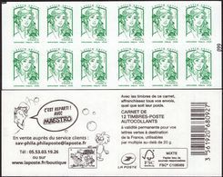 """CARNET Marianne De Ciappa-Kawena Vert """"C'EST REPARTI AVEC MAESTRO"""" Avec Carré Noir. Prduit RARE. - Definitives"""