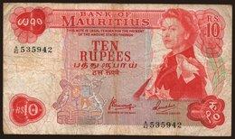 10 Rupees, 1967 - Mauritius