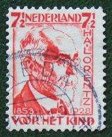 7 1/2 + 2  Ct Kinderzegel Child Welfare Enfants Kinder NVPH 222 (Mi 220) 1928 Gestempeld / USED NEDERLAND / NIEDERLANDE - Period 1891-1948 (Wilhelmina)
