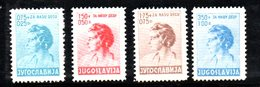 YUG48A - YUGOSLAVIA 1936 , Infanzia Unificato N. 297/300  ***  MNH - Nuovi