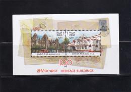 India 2013 Heritage Postoffices Mumbai / Agra  MS Sheet / Block   *** MNH / Pfr. - India
