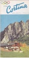 Rare Dépliant Cortina Dolomites Années 50 - Dépliants Touristiques